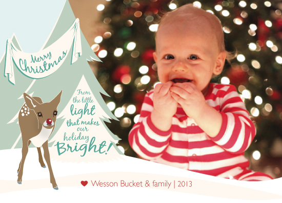holiday photo cards - Baby Rudolph by Sparkmymind Designs
