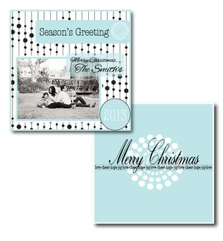 Frosted Chic Holiday Photo Cards