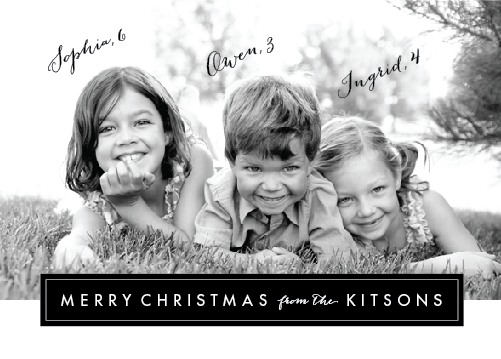holiday photo cards - Modern Archive by Sarah Curry