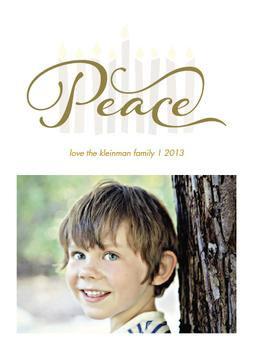 hanukkah peace Holiday Photo Cards