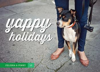 Yappy Holidays Holiday Photo Cards
