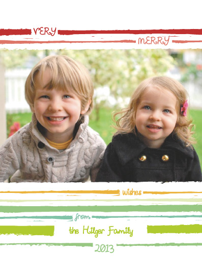 holiday photo cards - Bright Stripes by Josh Wintersteen