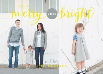 Merry and Bright Year Holiday Photo Cards