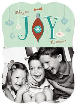 Retro ornament Holiday Photo Cards