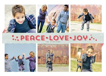 Floating Banner Holiday Photo Cards