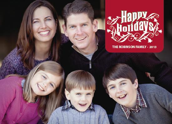holiday photo cards - Happy Holidays Flourish by Jana J