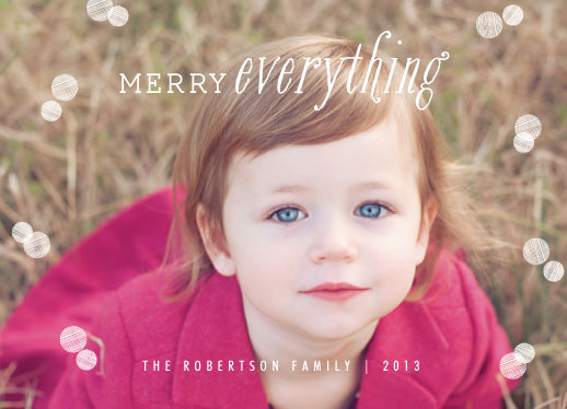 holiday photo cards - merry circles