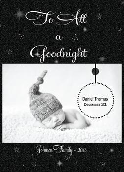 To All a Goodnight Holiday Photo Cards