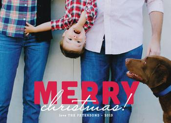 Bold and Merry Holiday Photo Cards