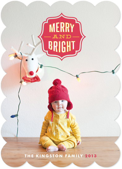 holiday photo cards - Merry and Bright Seal