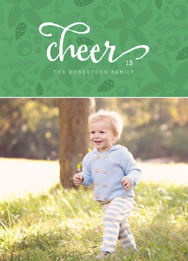 holiday photo cards - floral cheer