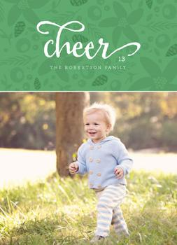 floral cheer Holiday Photo Cards