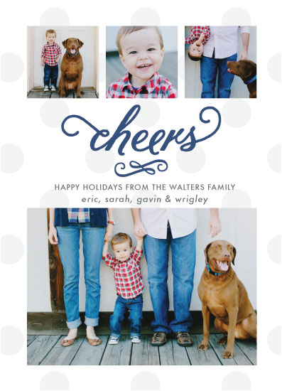 holiday photo cards - Polka Cheers by Elizabeth Victoria Designs