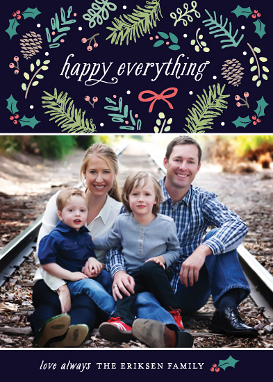holiday photo cards - Seasonal Details