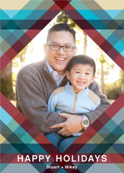 A Plaid Dad Holiday Holiday Photo Cards