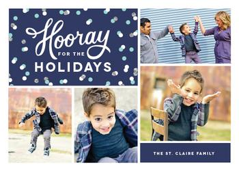 Hip Hip Hooray Holiday Photo Cards