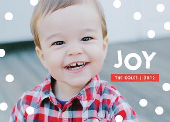 Dot Holiday Photo Cards