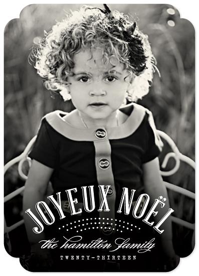 holiday photo cards - Joyeux Noël