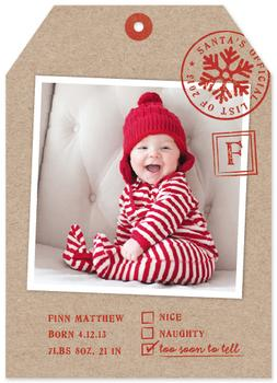List Tag Holiday Photo Cards