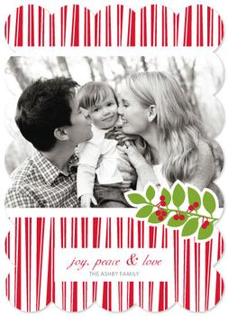 Happy Stripes Holiday Photo Cards