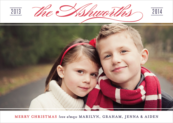 holiday photo cards - Stately Name