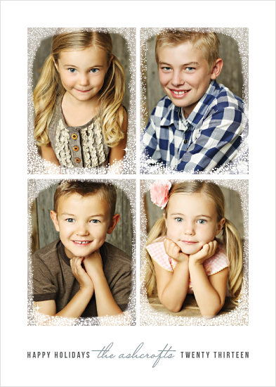 holiday photo cards - Frosted Window Panes