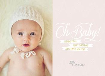 oh baby! Holiday Photo Cards