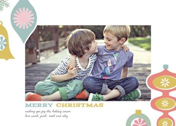 A Very Retro Christmas Holiday Photo Cards