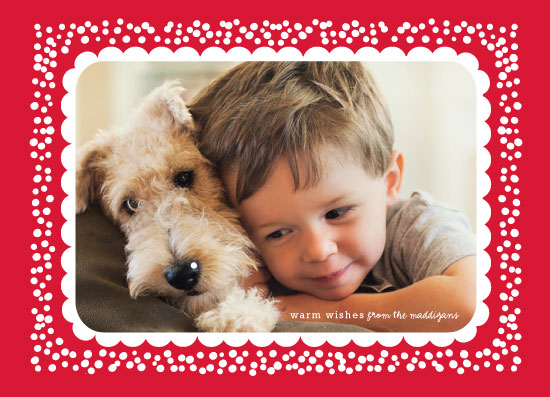 holiday photo cards - Dots Frame by Susan Brown