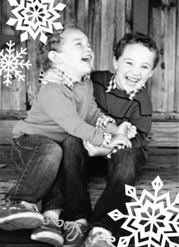 Super Snowflakes Holiday Photo Cards