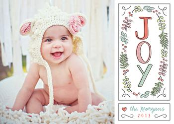 Offset Joy Holiday Photo Cards