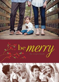 Holly Merry Holiday Photo Cards