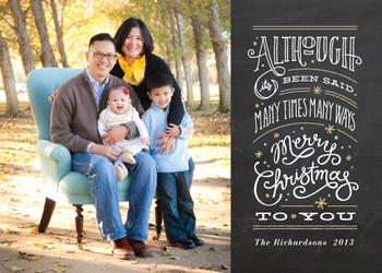 Say it again Holiday Photo Cards
