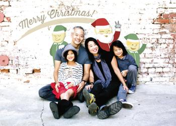 Xmas Photobomb Holiday Photo Cards