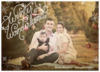 Simple Winter Wonderland Holiday Photo Cards