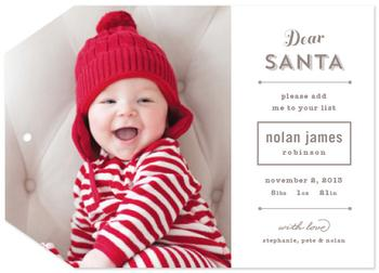 Add Me To Your List Holiday Photo Cards