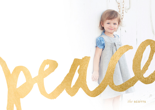 holiday photo cards - Brushed Gold by kelli hall