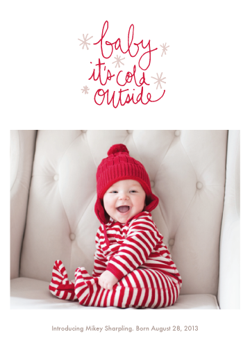 holiday photo cards - Oh Baby Baby by June Letters Studio