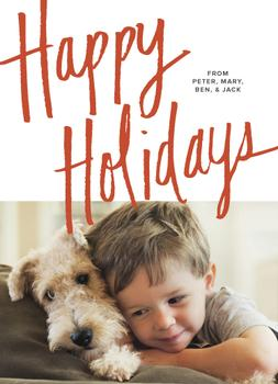 Happy Happy Holiday Photo Cards
