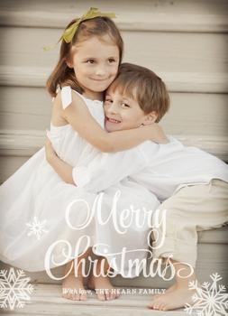 Serene Snowflakes Holiday Photo Cards