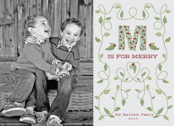 """M"" is for Merry Holiday Photo Cards"