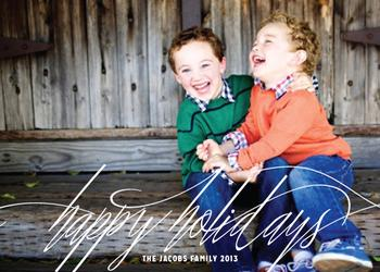 Modern Pen Holiday Photo Cards
