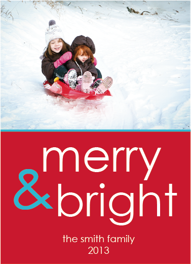 holiday photo cards - Merry & Bright Holiday by Stephanie Piontkowski