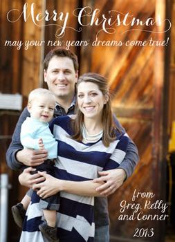 New Years Dreams Holiday Photo Cards