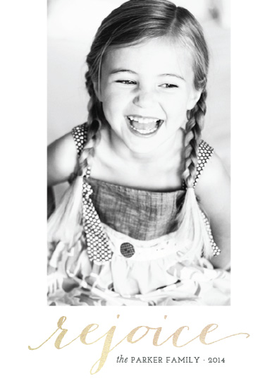 holiday photo cards - Simply Rejoice