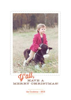 Southern Comfort Holiday Photo Cards