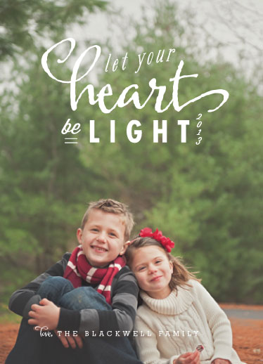 holiday photo cards - light heart