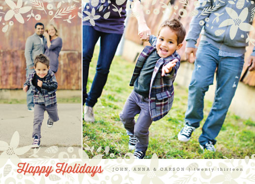 holiday photo cards - merry blossoms