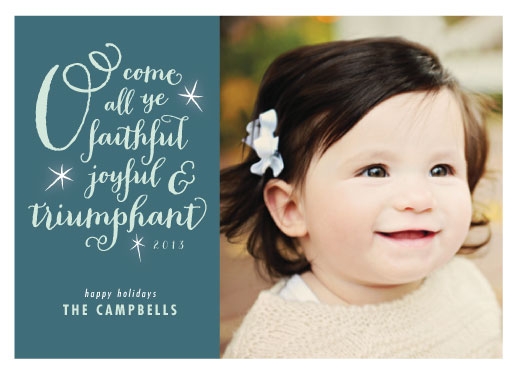 holiday photo cards - Joyful & Triumphant