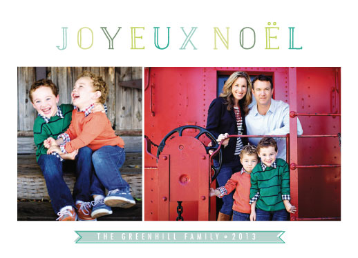 holiday photo cards - noel joy